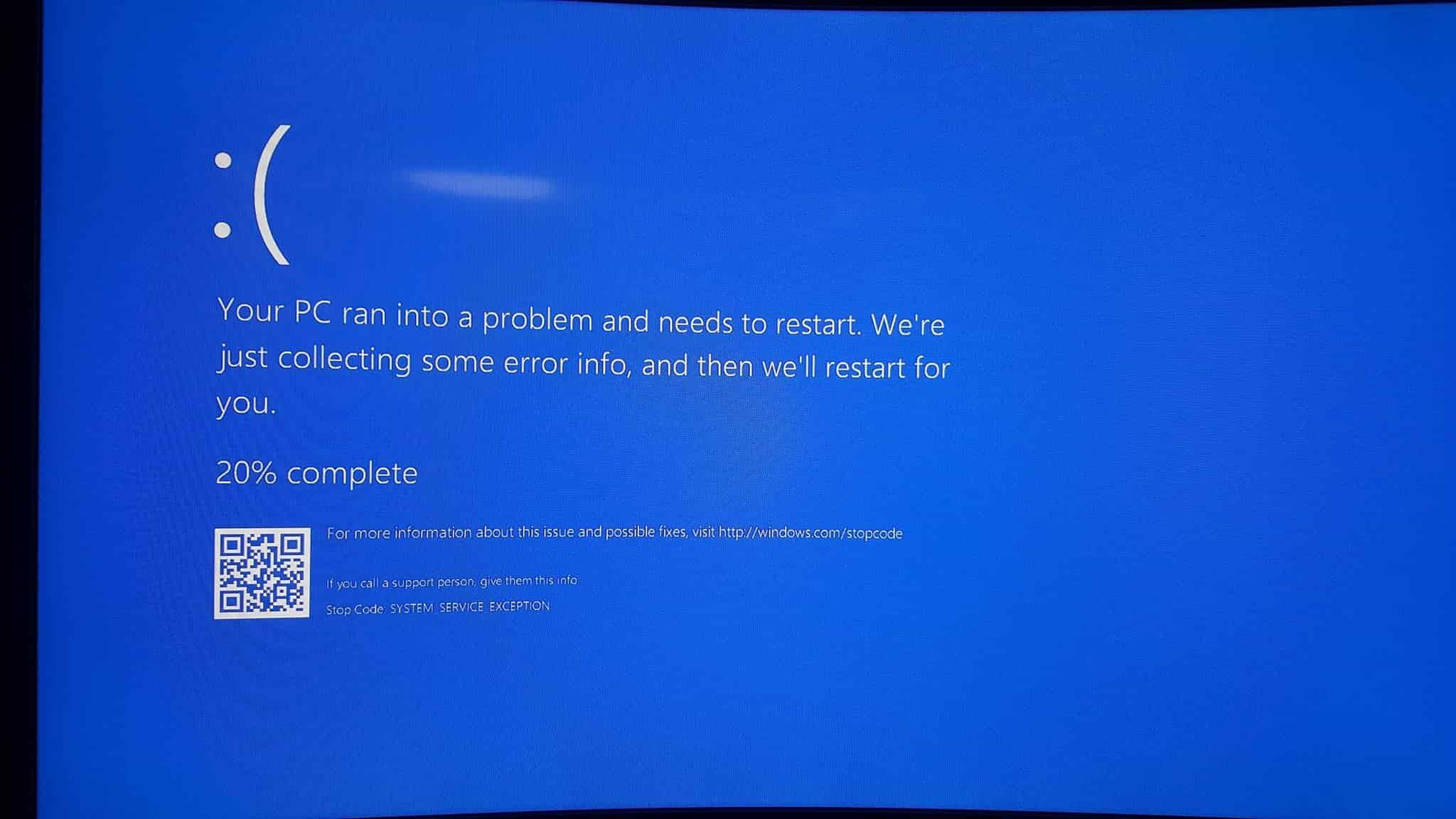 blue screen eror