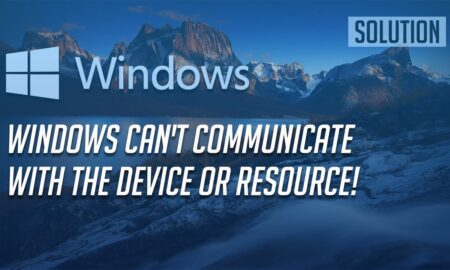 "Fix ""Windows can't communicate"