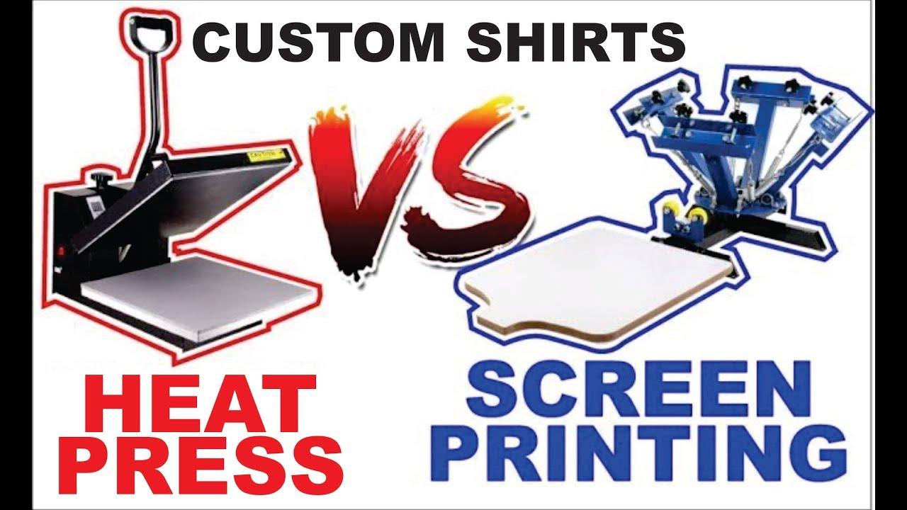 Heat Press vs Screen Press
